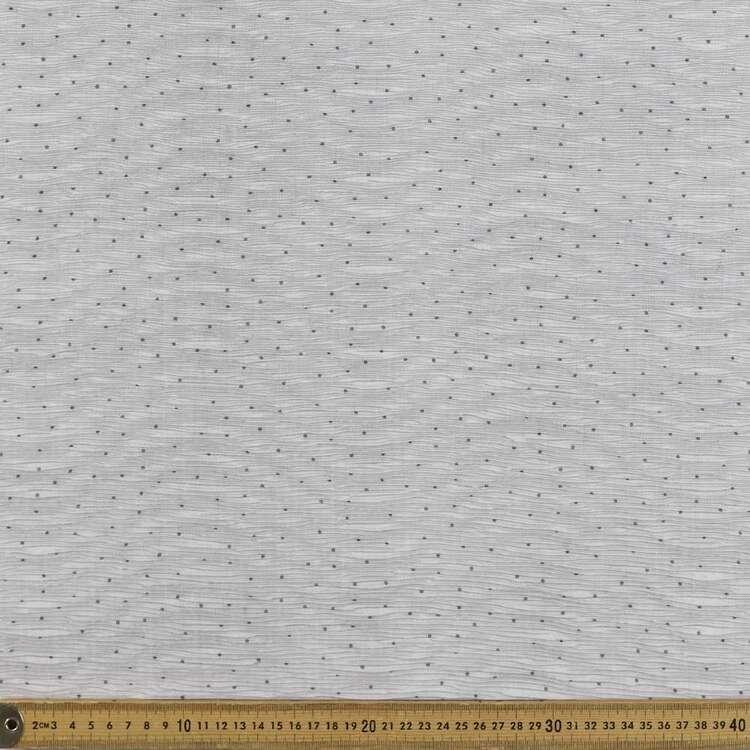 Dot Printed 145 cm Crinkle Chiffon Fabric