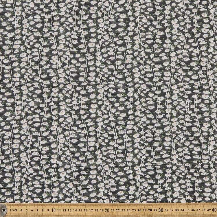 Floral #1 Printed 132 cm Shirred Yoryu Chiffon Fabric