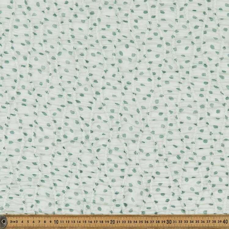 Dot Printed 132 cm Shirred Yoryu Chiffon Fabric