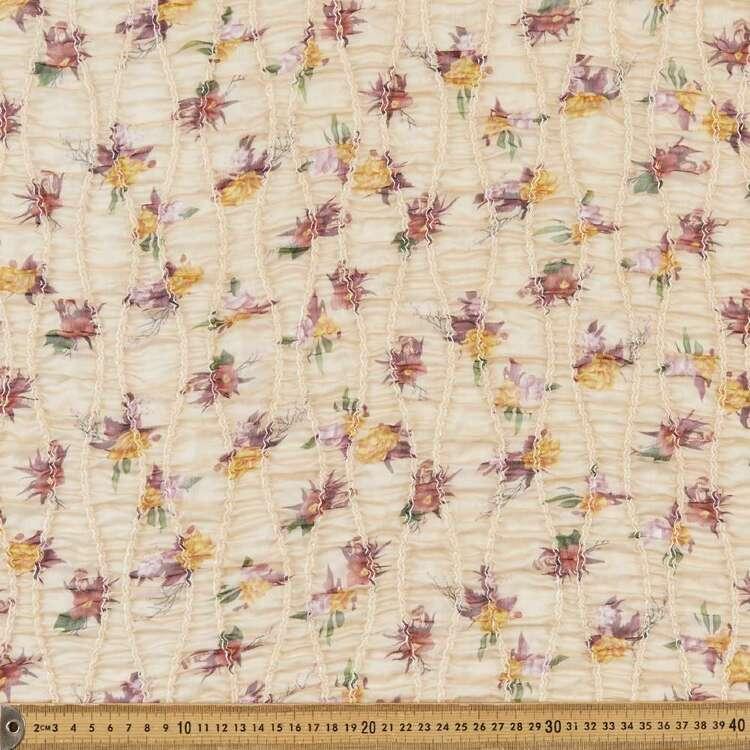 Floral #3 Printed 132 cm Shirred Yoryu Chiffon Fabric