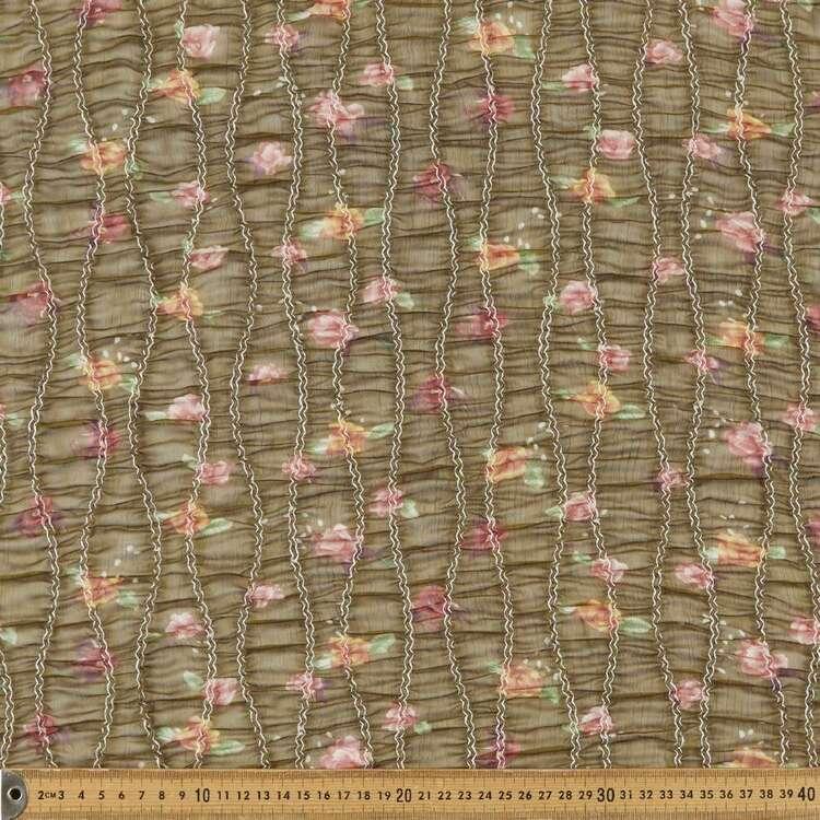 Floral #5 Printed 132 cm Shirred Yoryu Chiffon Fabric