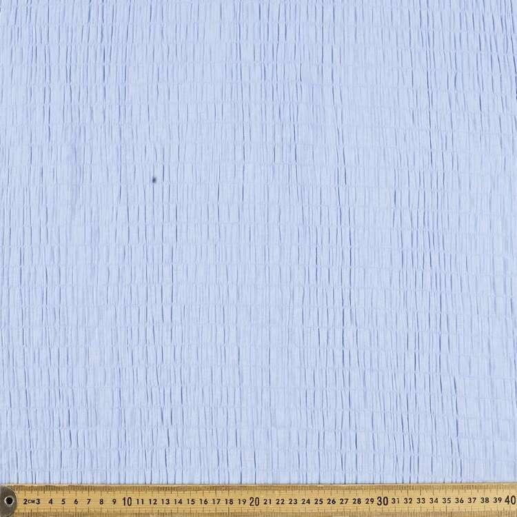 Plain 132 cm Narrow Shirred Crinkle Fabric