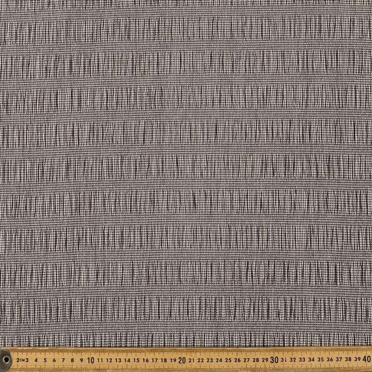Gingham Printed 132 cm Shirred Crinkle Fabric