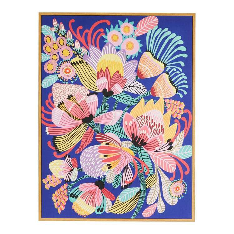 Kirsten Katz Wild Proteas Framed Canvas Print