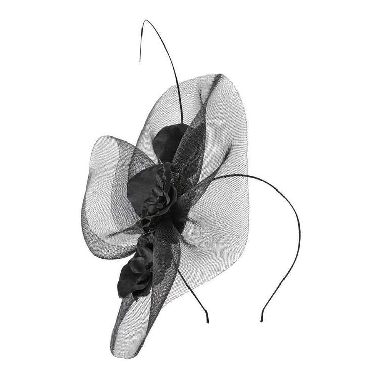 Maria George Free Form Fascinator With Flowers