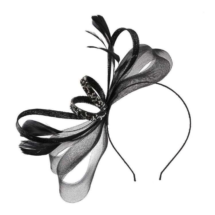 Maria George Glitter Crinoline Loops Fascinator