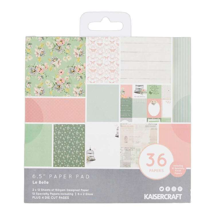 Kaisercraft 6.5 x 6.5 in Le Belle Paper Pad