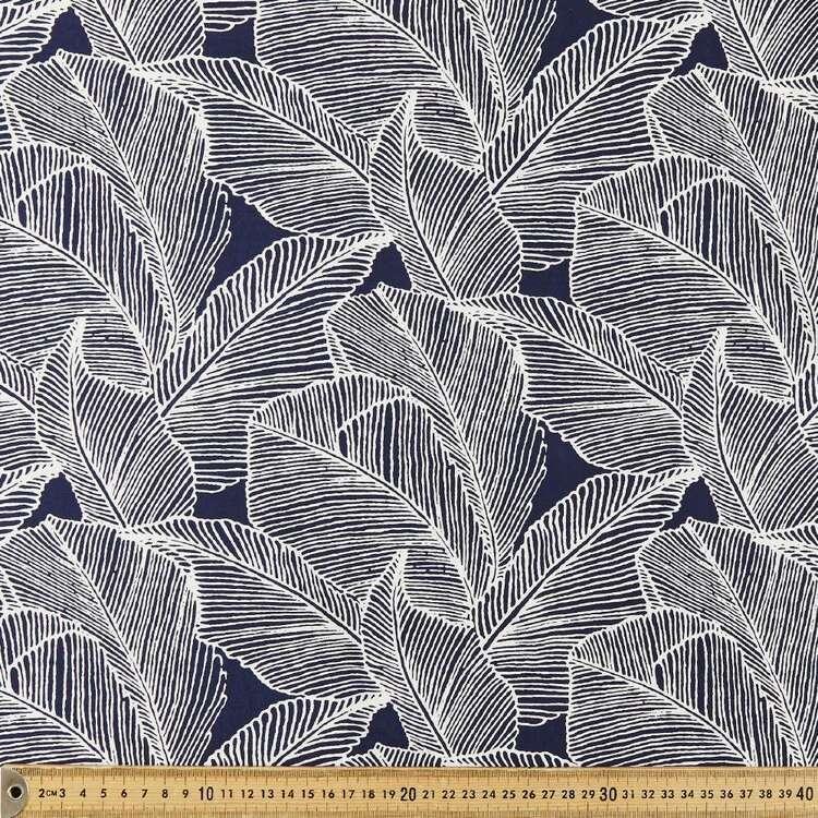 Leaf Printed 135 cm Rayon Fabric