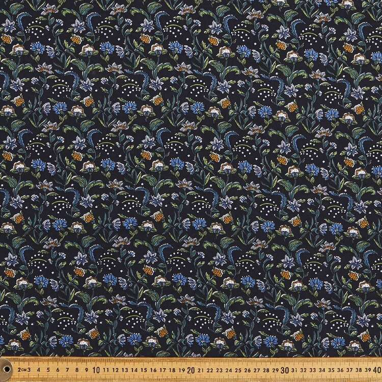 Jacobean Printed 135 cm Rayon Fabric