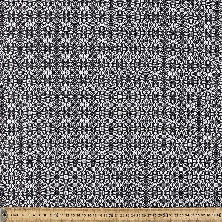 Stamp Printed 135 cm Rayon Fabric