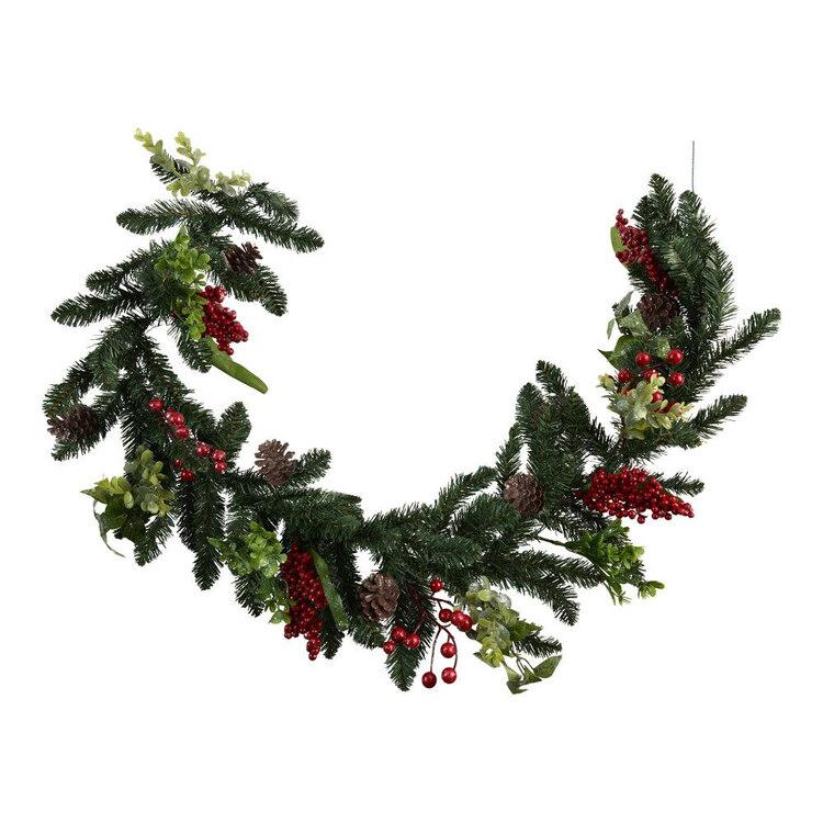 Living Space Festive 160 cm Berry & Pinecone Christmas Garland
