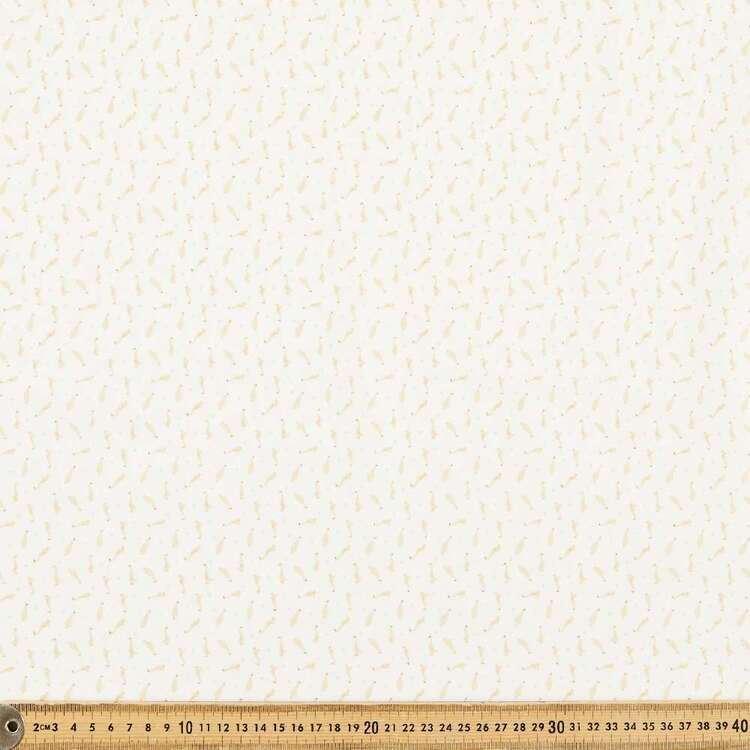 Duckie Printed 112 cm Organic Cotton Blender Fabric