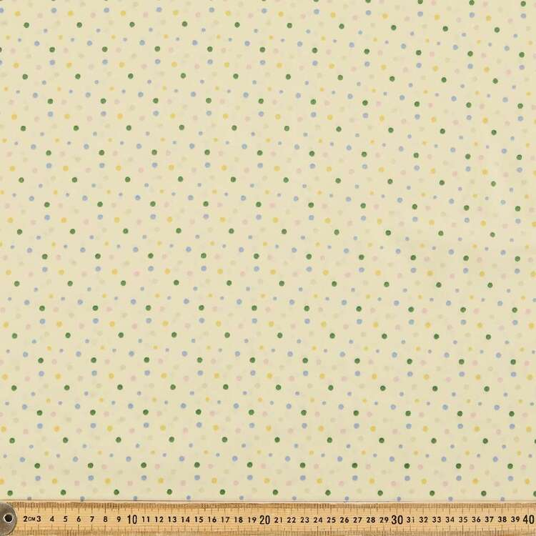 Spot Printed 112 cm Organic Cotton Blender Fabric