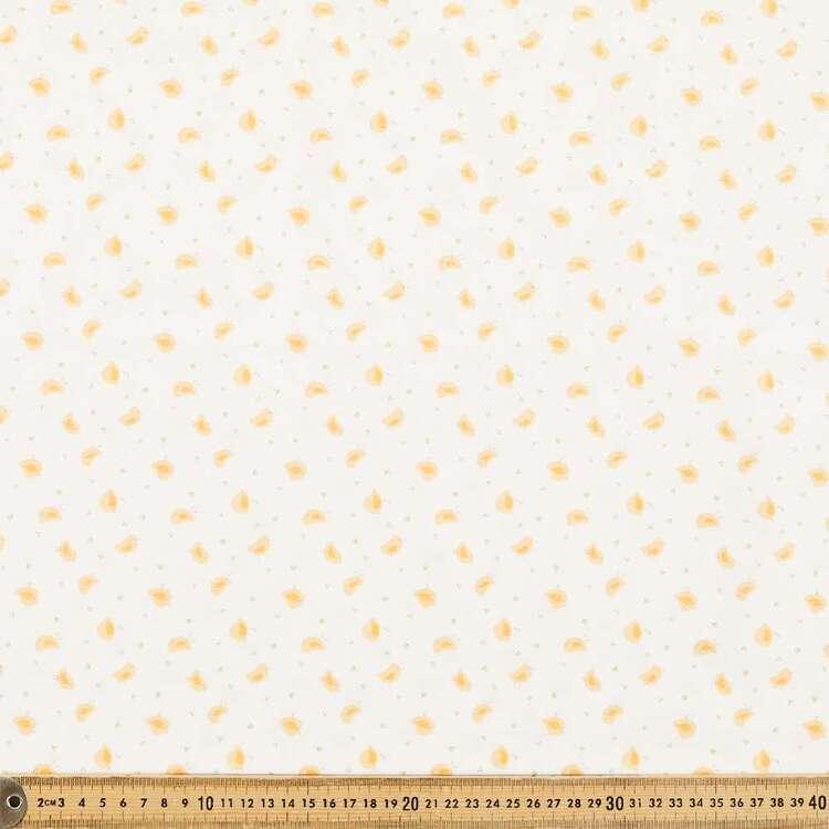 Birdie Printed 112 cm Organic Cotton Blender Fabric