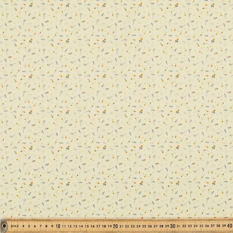 Floral Mix Printed 112 cm Organic Cotton Blender Fabric
