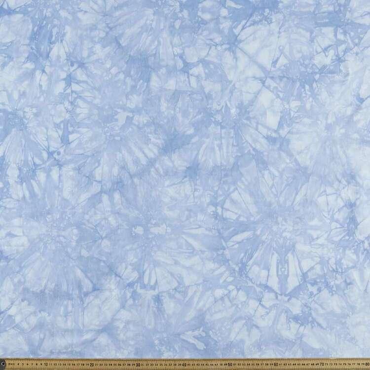 Tie Dye Printed 145 cm Stretch Denim Fabric
