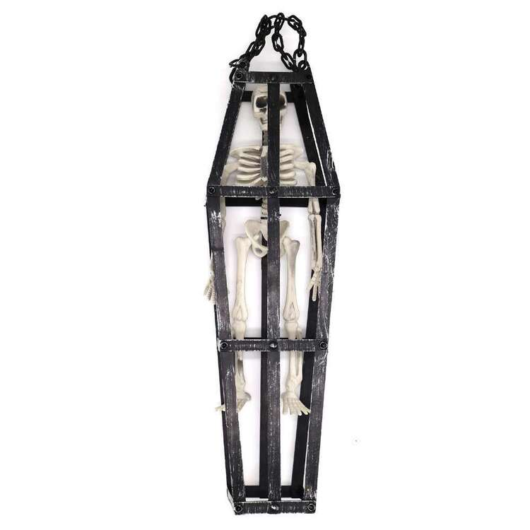 Spooky Hollow Skeleton Hanging Cage