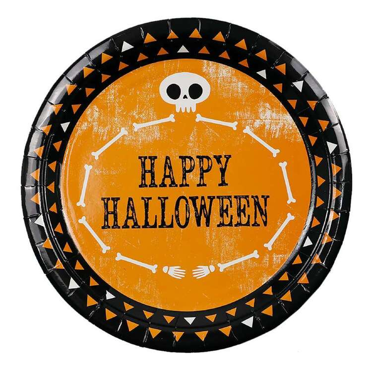 Spooky Hollow Happy Halloween Paper Plate 8 Pack