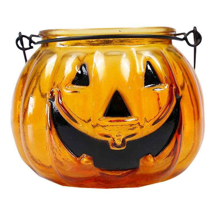 Spooky Hollow Glass Jack O'Lantern