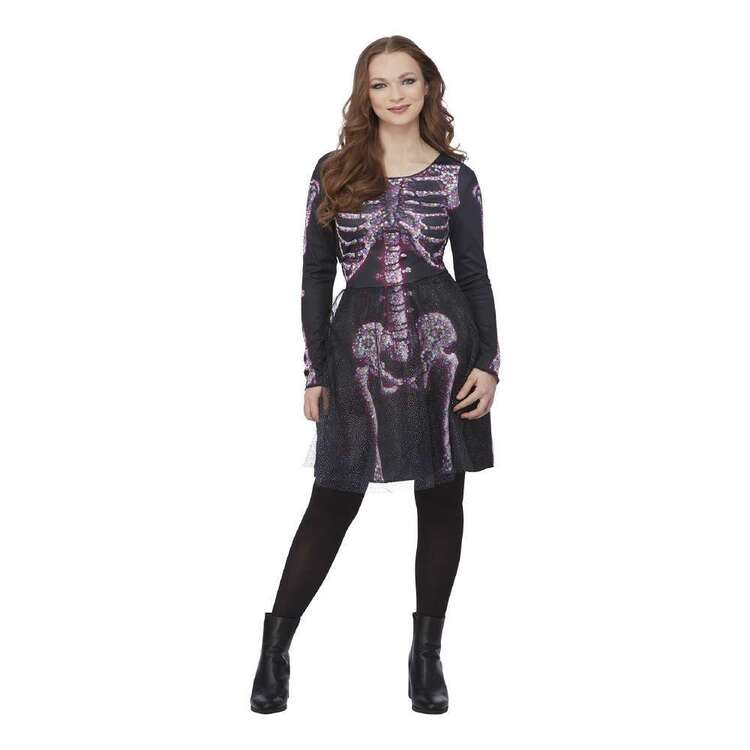 Spooky Hollow Deluxe Adult Jewelled Skeleton Dress