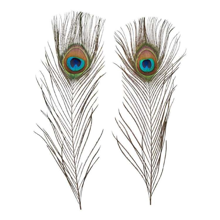 Maria George Natural Peacock Feather 2 Pack