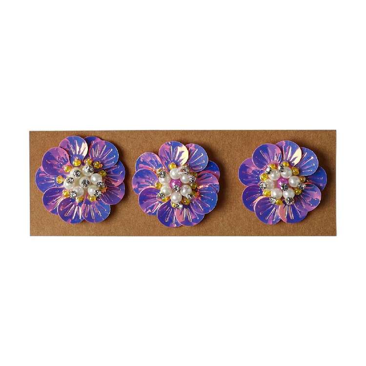 Maria George Acrylic Holographic Flowers 3 Pack
