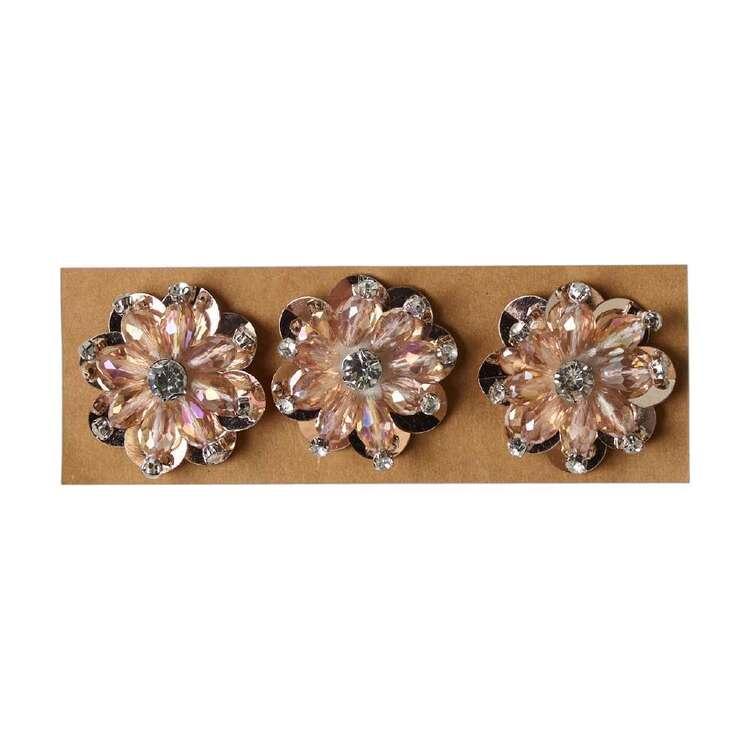 Maria George Acrylic Beaded Flowers 3 Pack