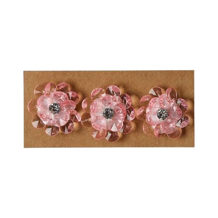 Maria George Acrylic Jewel Flowers 3 Pack