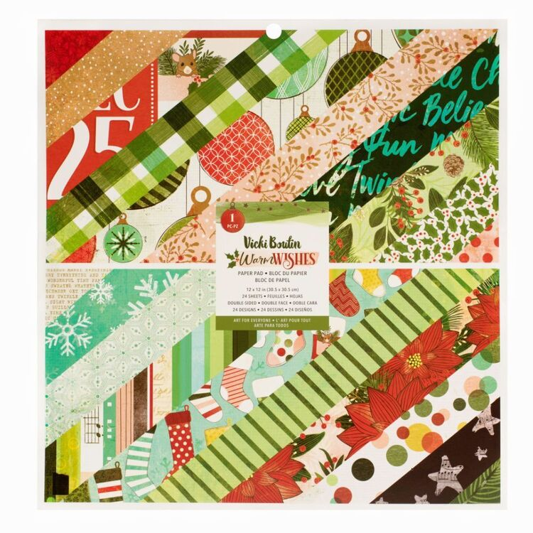American Crafts Vicki Boutin Warm Wishes 12 x 12 in Paper Pad