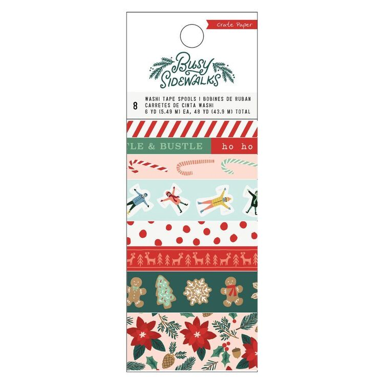 Crate Paper Busy Sidewalks Wash Tape 8 Pack
