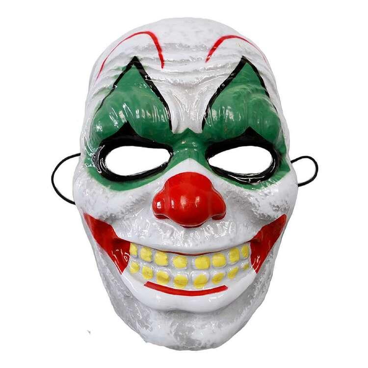 Spooky Hollow Clown Plastic Mask