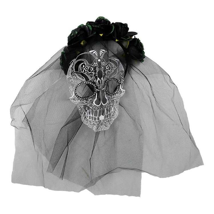 Spooky Hollow Floral Veil Headband
