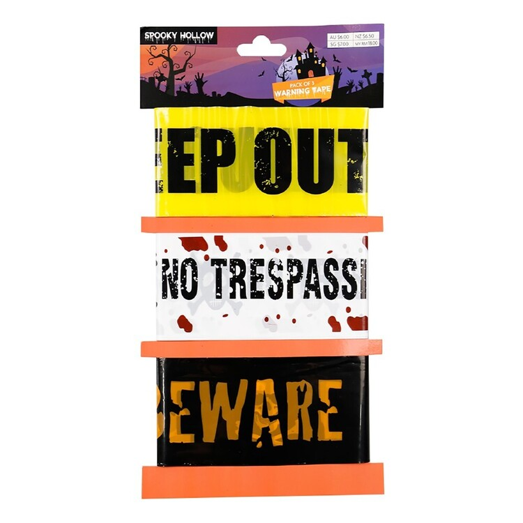 Spooky Hollow Warning Tape 3 Pack