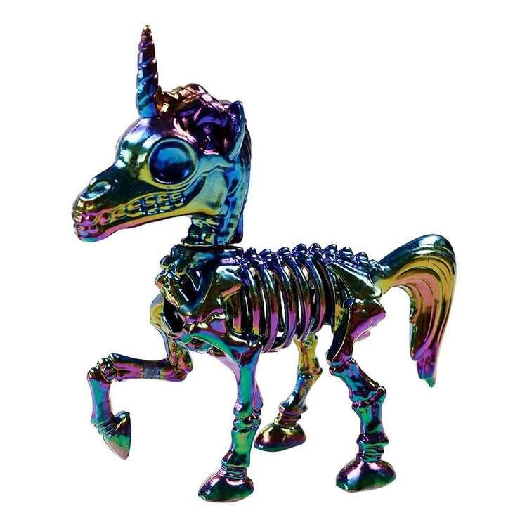 Spooky Hollow Oil Slick Unicorn Skeleton