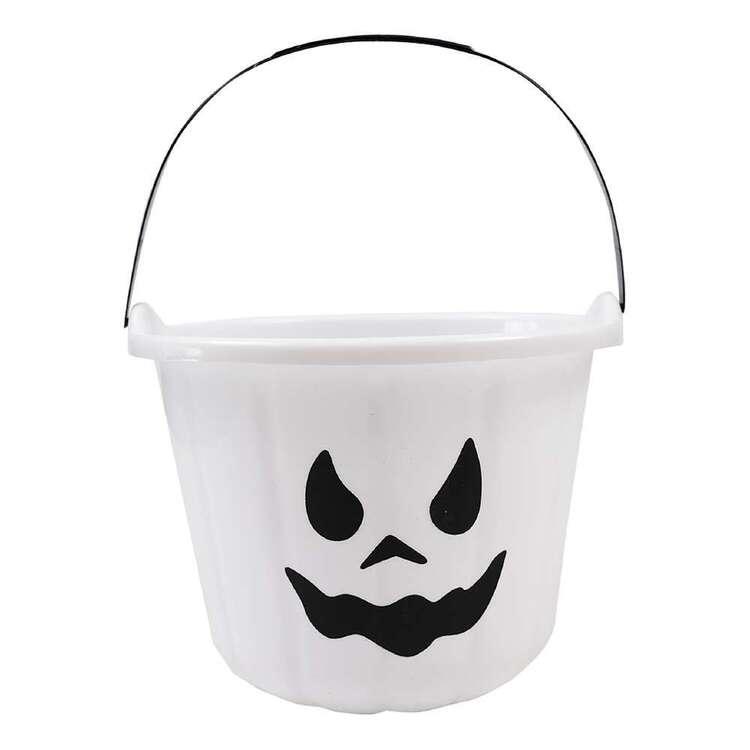 Spooky Hollow Plastic Ghost Treat Bucket
