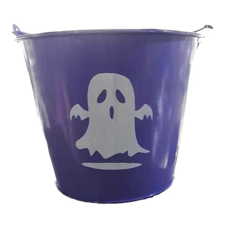Spooky Hollow Ghost Metal Treat Bucket