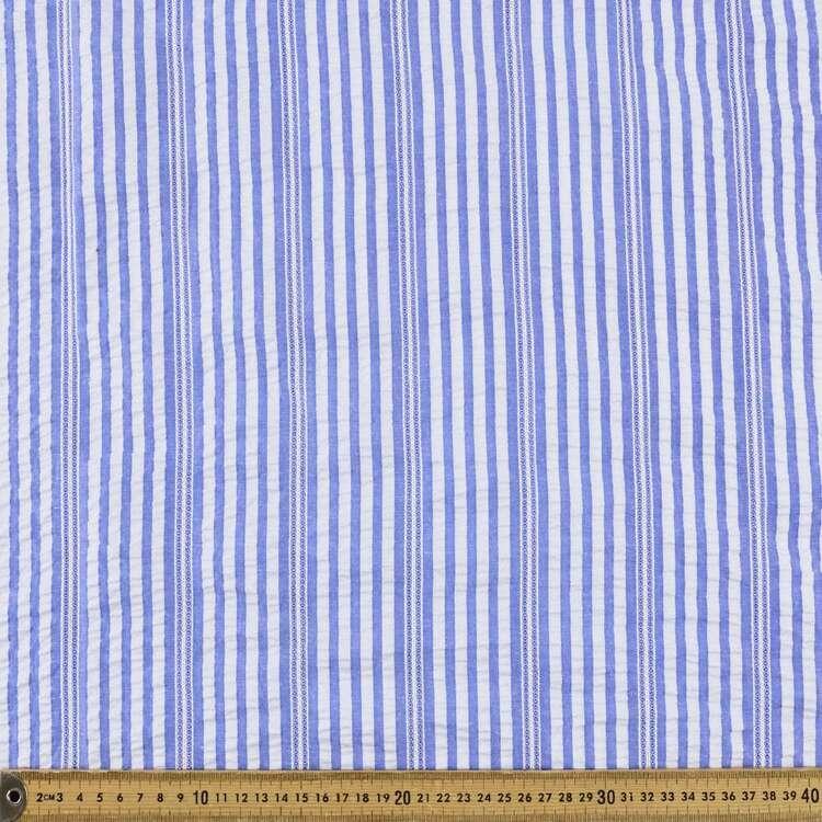Yarn Dyed Stripe #1 Printed 140 cm Seersucker Fabric