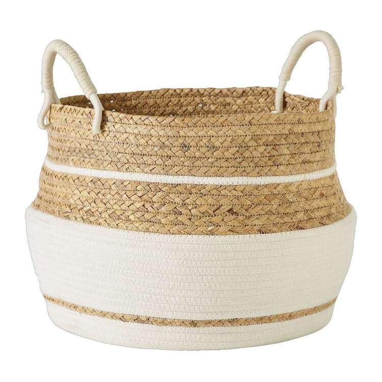 Living Space Gourd Grass & Cotton Rope Basket