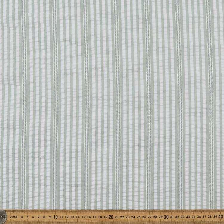 Stripe #2 Printed 140 cm Yarn Dyed Seersucker Fabric