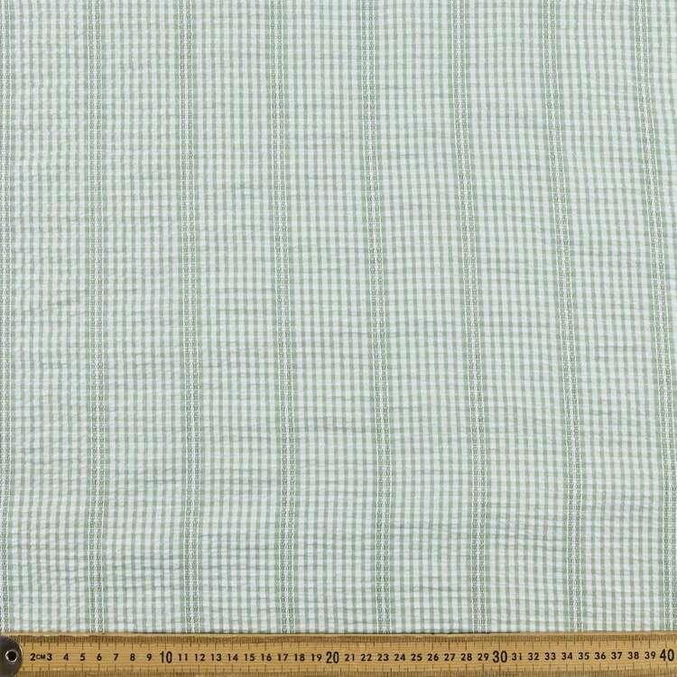 Yarn Dyed Check #2 Printed 140 cm Seersucker Fabric