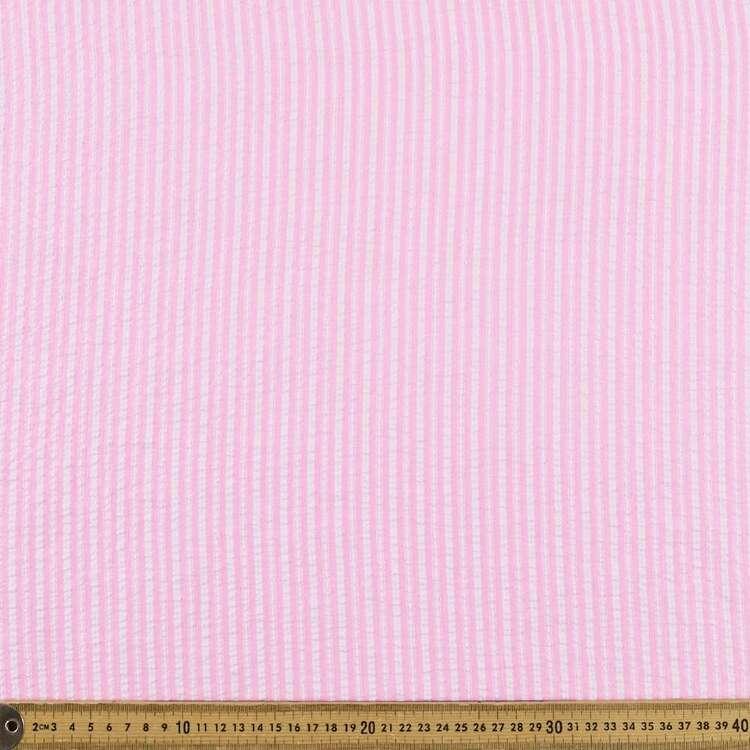 Yarn Dyed Stripe #3 Printed 140 cm Seersucker Fabric