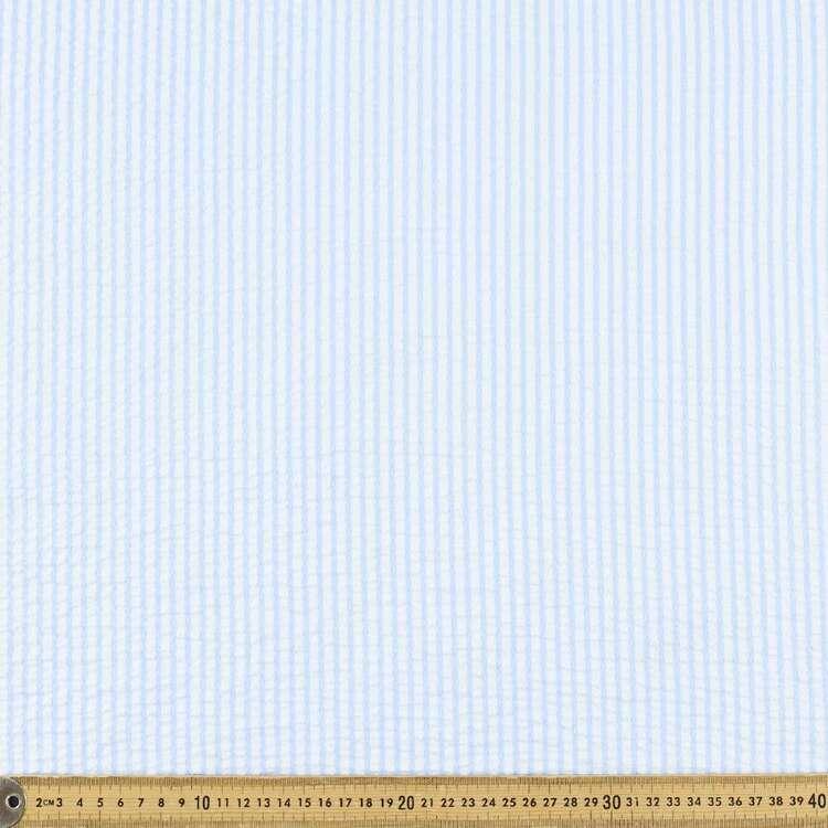 Yarn Dyed Stripe #4 Printed 140 cm Seersucker Fabric