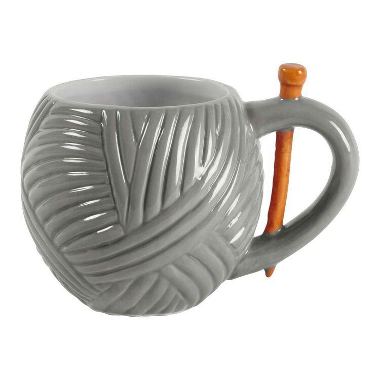Sew Tasty Yarn Grey Mugs