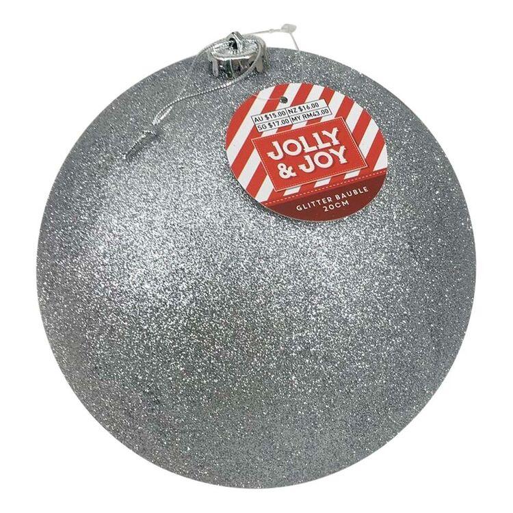Jolly & Joy 20 cm Glitter Bauble