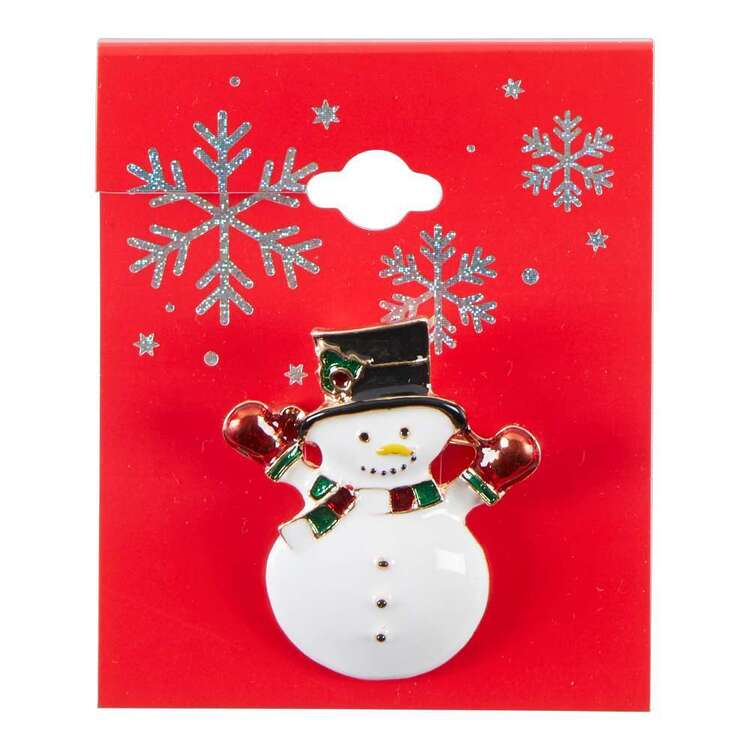 Maria George Snowman Christmas Brooch