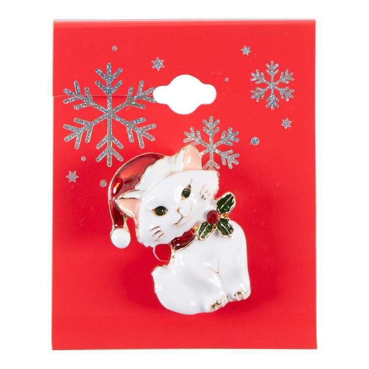 Maria George Christmas Cat Brooch