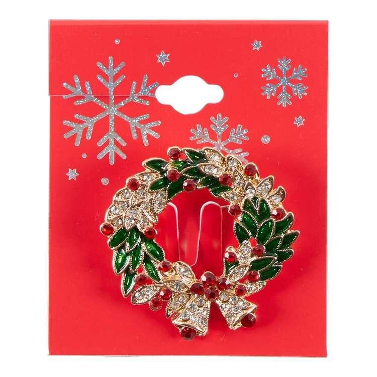 Maria George Christmas Wreath Brooch