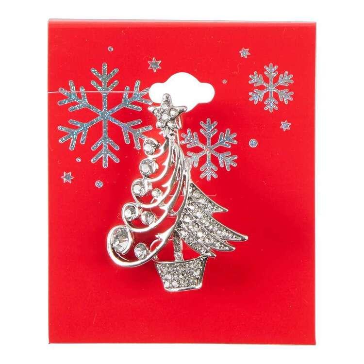 Maria George Silver Christmas Tree Brooch