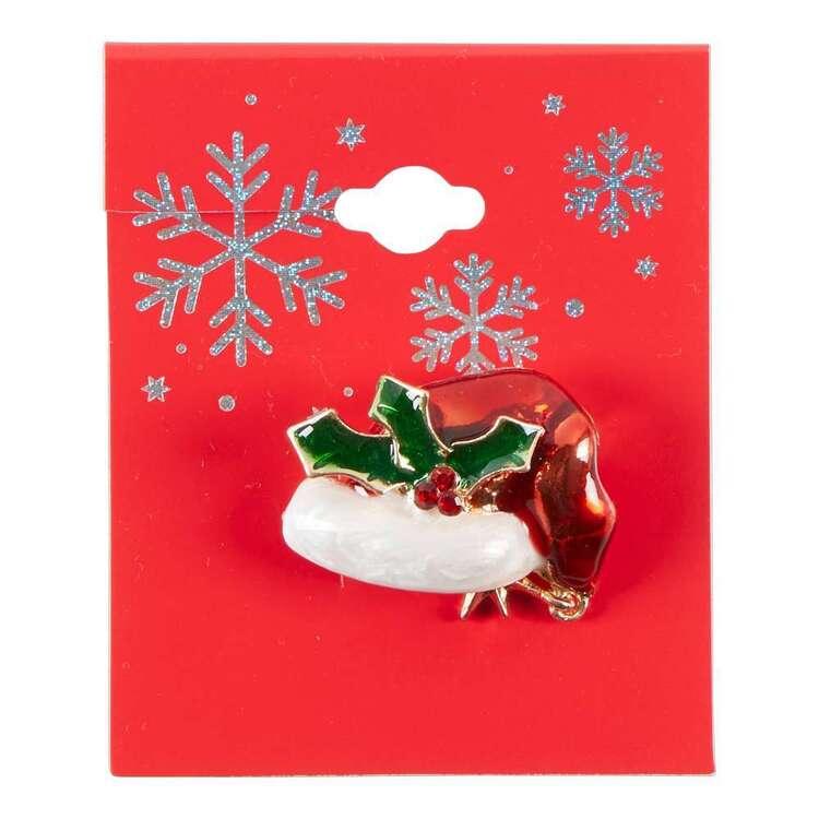 Maria George Christmas Santa Hat Brooch