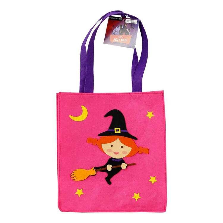 Spooky Hollow Witch Felt Bag